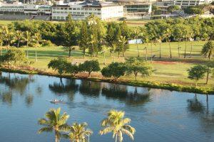 イリマホテルから眺める運河